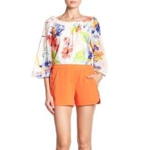 Trina Turk Kristoph Crepe Shorts NWT Size 12